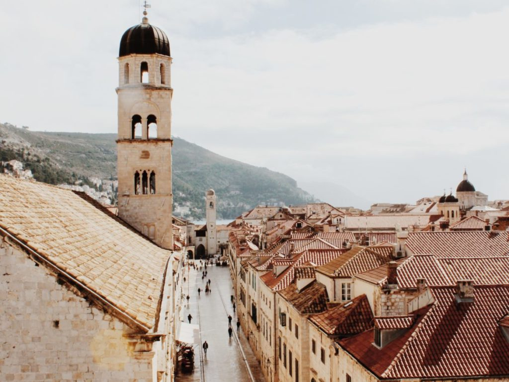 Stradun street during winter time, Dubrovnik, Croatia