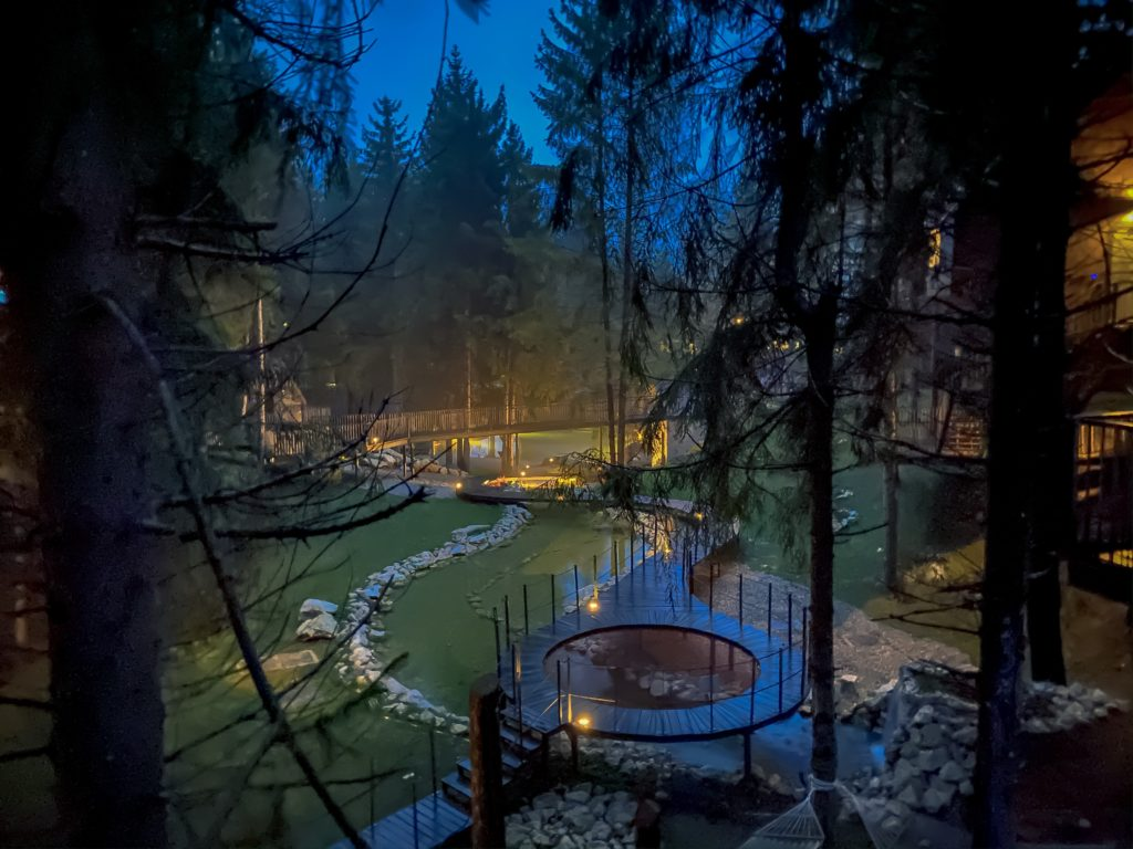View from a luxury tree house sin Croatia close to Plitvice National Park