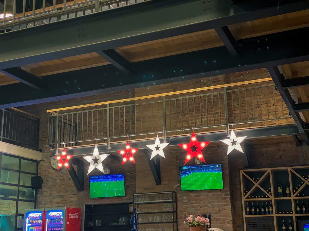 Star decoration in restaurant, Osijek, Croatia