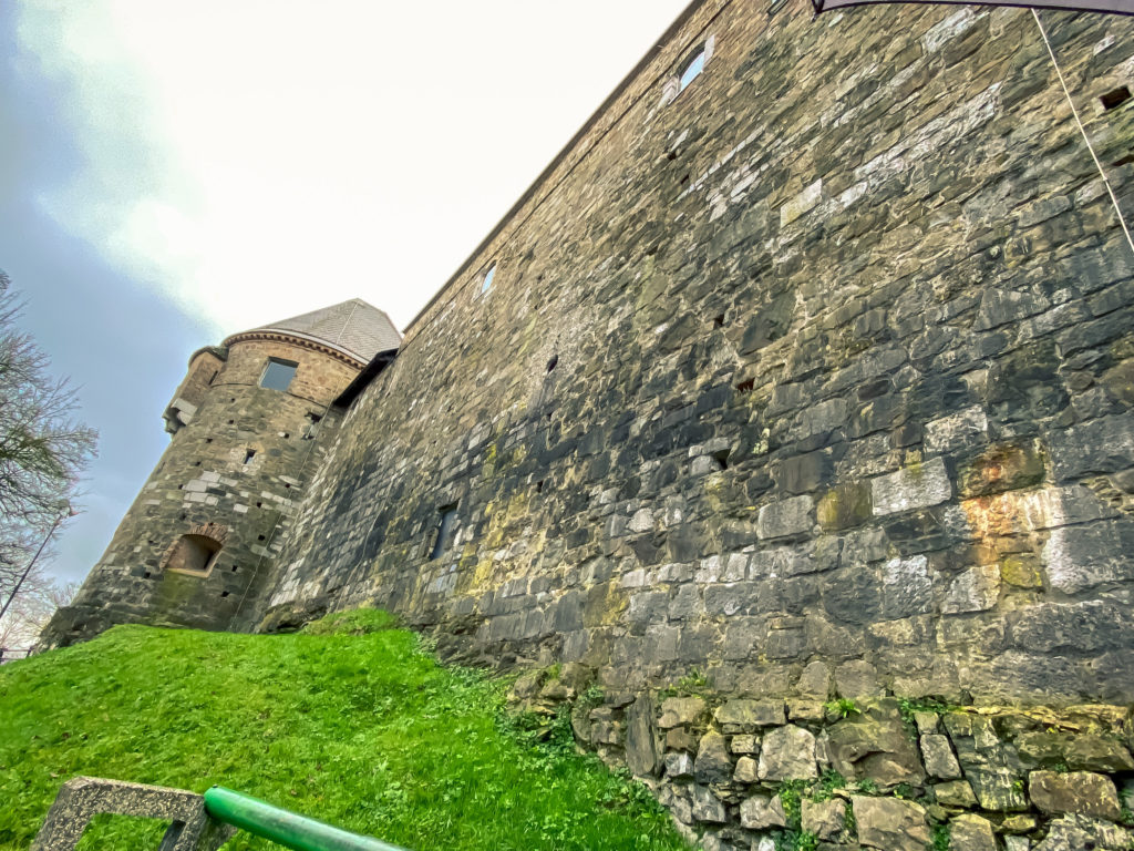 Ancient walls of Ljubljana castle, Ljubljanski grad, Slovenia