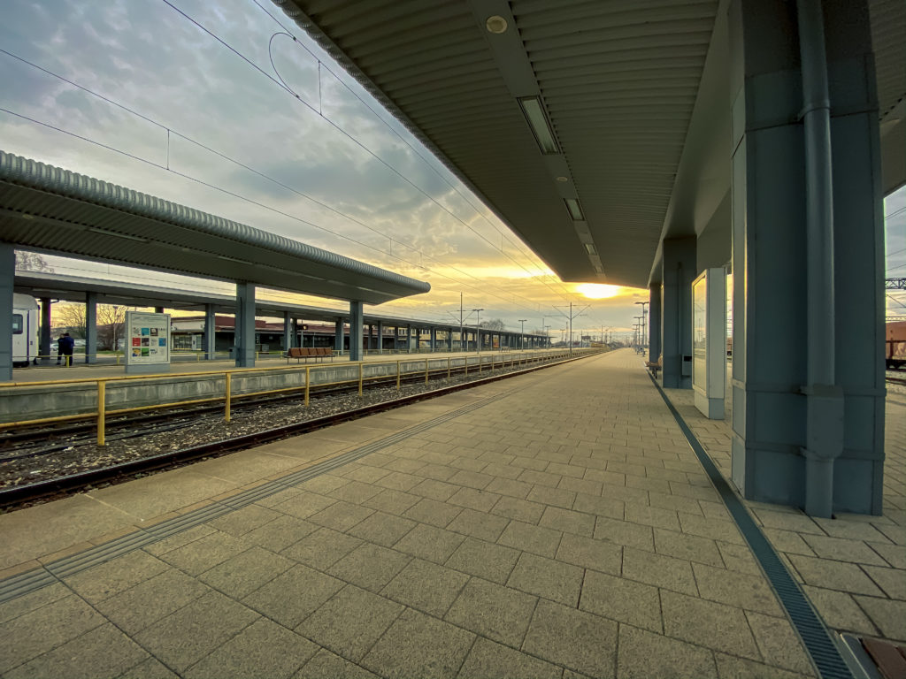 Vinkovci railway station, the busiest station in Yugoslavia