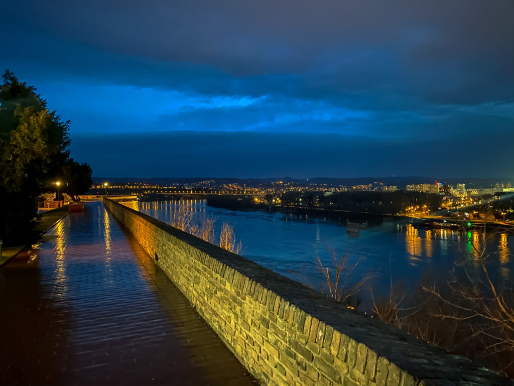 View on Danube from Petrovaradin fortress, Novi Sad, Serbia
