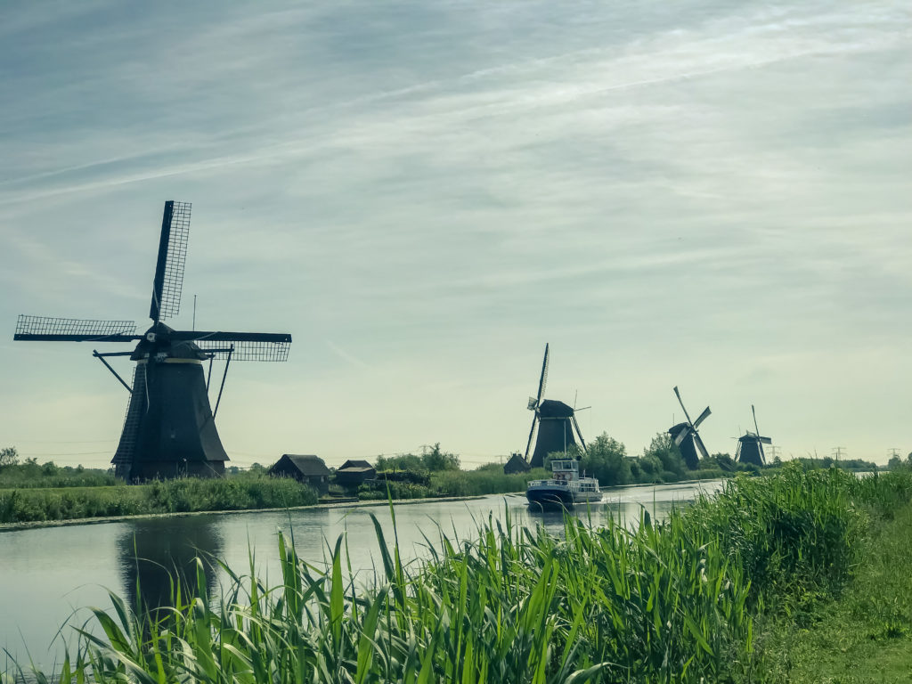 Kinderdijk, the Largest Collection of Working Windmills in Holland, Netherlands