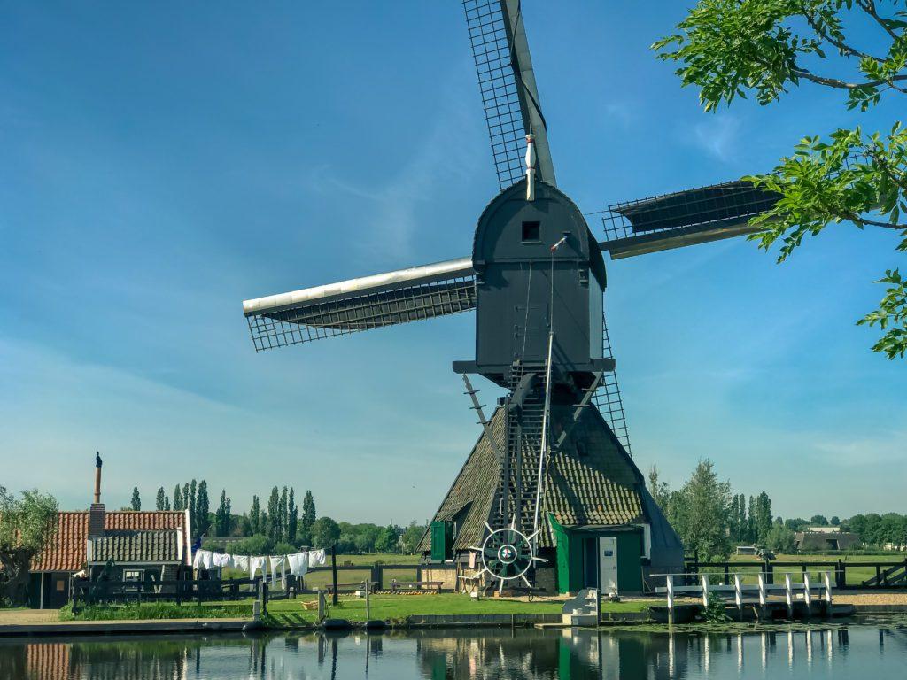 The Famous Netherlands wooden Windmills, UNESCO World Heritage Site, Kinderdijk Windmill village