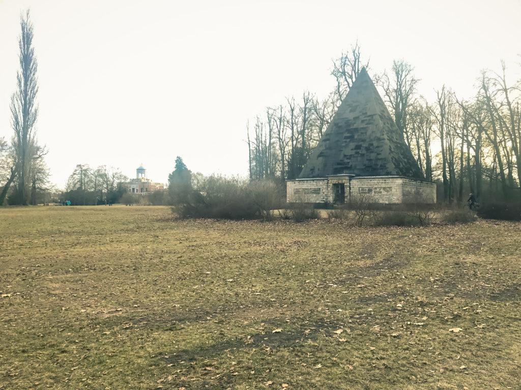 Potsdam New Garden in winter season and Pyramide, Potsdam, Germnay