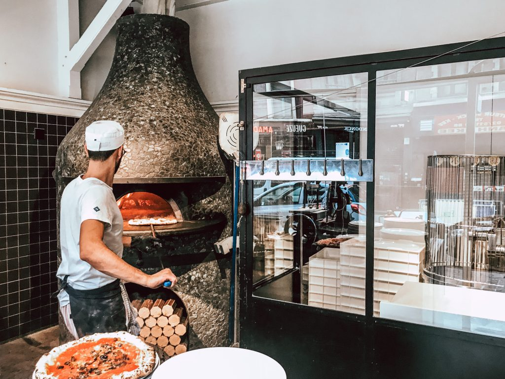 Wood-fired pizza oven, Brussels, Belgium