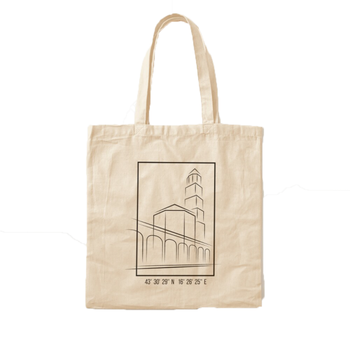 Cotton Tote Bag - I love Croatia